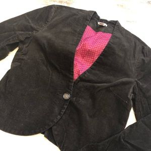 Old navy stretchy corduroy black blazer medium